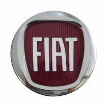 Calotinha Centro De Roda Fiat Punto 49,6mm Logo Vermelho