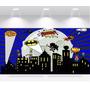 Papel Parede Adesivo Heróis Animados Batman Robin 2x1m