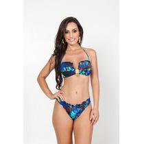 Biquini Ripple Gg Sensual Sexy Azul Moda Praia Verão 2016
