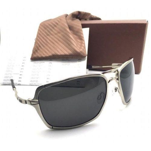b133e0e0a5849 Óculos Inmate Prata Metal-x Masculino Polarizado