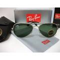 Óculos De Sol Ray Ban 3026(grande) Prata Lente Verde G15