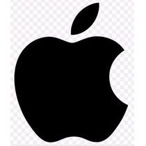 10 Adesivos Maçã Apple Vinil Aço Escovado Ou Preto Refletivo