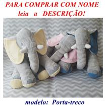Almofada Elefante 65 Cm Colorida  2 Cores E  Porta-treco