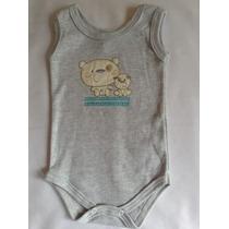 Body Bebê Nenem Personalizado/ Roupa De Bebê / Regata Cinza