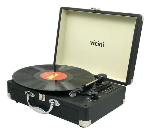 Radio Vitrola Toca-discos Bluetooth Reproduz E Grava Usb Sd