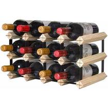 Adega Rack Luxo 12 Garrafas De Vinho Em Madeira Cedrinho