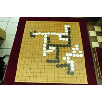 Jogo De Go Tabuleiros De 9,13,19 Linhas Pedras/goishi-couro