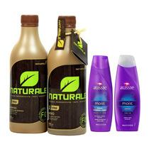 Escova Orgânica Naturale 500ml + Shampoo E Cond. Aussie