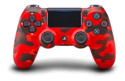 Controle Joystick Sony Dualshock 4 Red Camouflage
