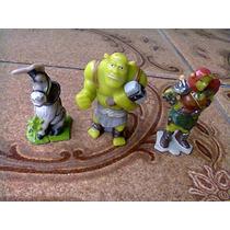 Lote Bonecos, Shrek, Fiona E O Burro