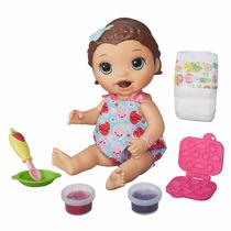 Boneca Baby Alive Morena - Hora Do Lanchinho Comida - Hasbro