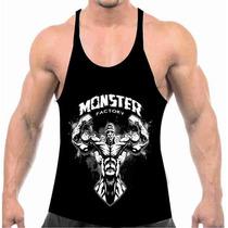 Camiseta Regata Cavada Fabrica De Monstro Musculação