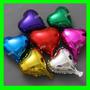 Balão Metalizado Coraçao Vermelho 45cm