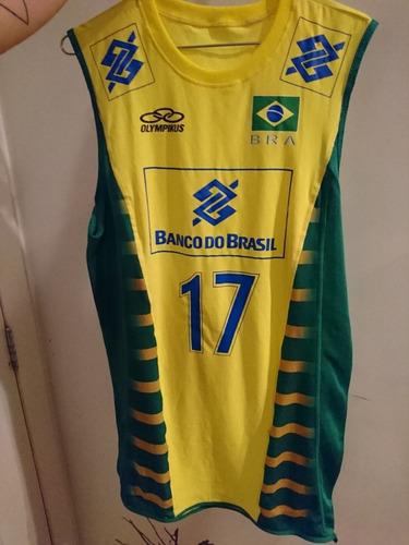 2eb6fe642f Camisa Do Ricardinho Volei Brasil Selecao Rara Colecionador