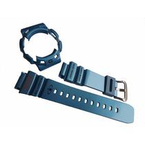 Kit Bezel E Pulseira Casio G-shock G-9100 G-9100tc Azul [f5]