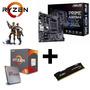 Kit Upgrade Gamer Asus   Ryzen R5 1600   8gb Ddr4