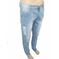 Calça Jeans Skinny Rasgada Masculina