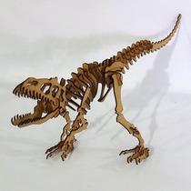 Quebra Cabeça 3d - Coleção Dinossauros -t Rex Mdf
