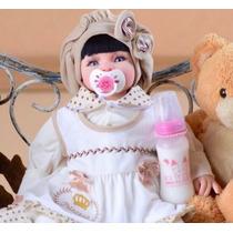 Bebe Reborn Realista Pérolas Barata Boneca Frozen Princesa