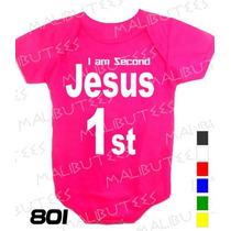 Body Evangélico Gospel I Am Second Jesus Infantil Bebê