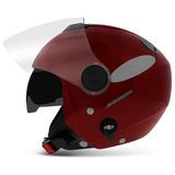 Capacete-New-Atomic-Aberto-Vermelho-Pro-Tork-Solid-Moto