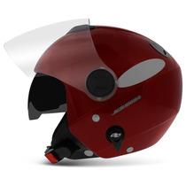 Capacete New Atomic Aberto Vermelho Pro Tork Solid Moto