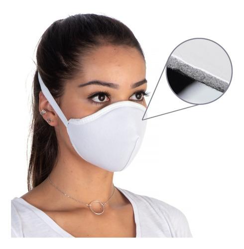 Máscara Facial De Proteção De Tecido Lavável Reutilizável