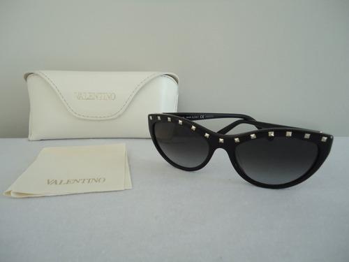 Valentino Oculos Feminino Escuro Sol V641s Tachas - Original - R ... 33aa4a79f7