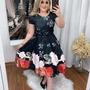 Vestido Feminino Moda Evangélica Midi Boneca Rodado Barato Original