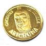 Ar1-moeda Ouro 21k Venezuela Caciques Arichuna