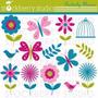 Kit Scrapbook Digital Flores Imagens Clipart Cod 6