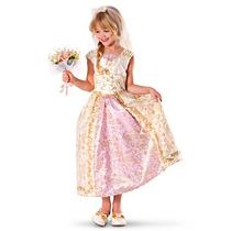 Fantasia Princesas Disney Enrolados Rapunzel Noiva Original