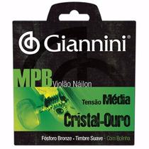 Jogo De Cordas Para Violão Mpb Nylon Giannini Promoção!