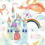 Papel De Parede Infantil Bebe Arco Iris Fantasia 2,5 M