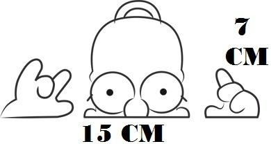 ceeeb5d67e Adesivo Homer Simpson Decal The Simpsons Com Frete Grátis à venda em ...