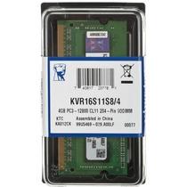 Memoria Sodimm Notebook Ddr3 4gb 1600mhz Pc3-12800 Kingston
