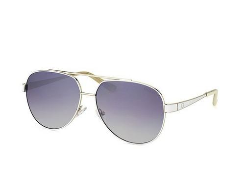 3aaa07dcaae92 Óculos De Sol Guess Aviador Gu7460 Prata Espelhado Original