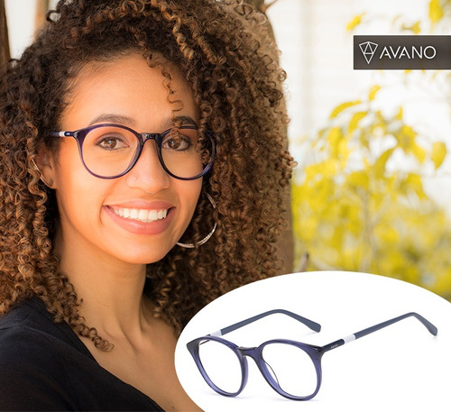 Armação Oculos Grau Feminino Avano Av 93-c Acetato Original ab59ad21ab