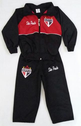 881fa0b57010c Agasalho Infantil São Paulo Abrigo Tricolor (blusa E Calça). R  86.5