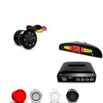 Kit Sensor De Estacionamento Com Câmera De Ré Automotivo