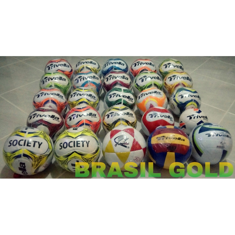 53209aad4e Kit 3 Bolas Futebol Campo Trivella Original - Brasil Gold em ...