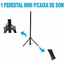 1 Mini Pedestal Suporte Tripé P/caixa De Som E Portátil