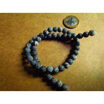 Ágata Preta 8mm, Pedra Natural, Pedra Semi Preciosa