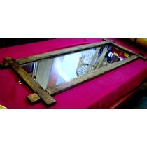 Moldura Rústica Maciça Com Espelho ( Madeira, Armação )