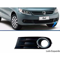 Moldura Grade Cromado Parachoque Gol G5 Volkswagen C/ Milha