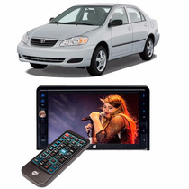 Kit Dvd Player Corolla 2 Din Câmera E Sensor