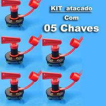 Lote 05 Chaves Gerais Automotiva 12v Bateria Painel