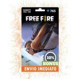 Free Fire 765 Diamantes + 77 Bônus (841) Recarga P/ Conta