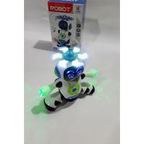 Brinquedo Robô Musical  360 Graus Com Som E Luz Lindo !