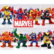 Kit Com 8 Bonecos Avengers Vingadores Marvel Disney Xd